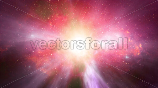 Fantastic Space Background With Nebula And Stars Loop - Vectorsforall