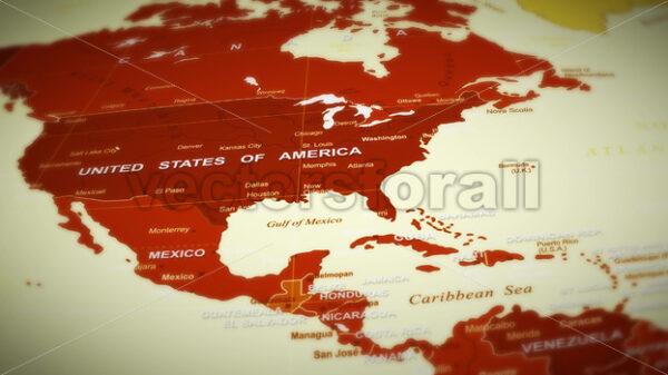 World Map Flight Over Background - Vectorsforall