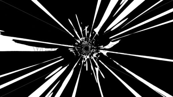 Abstract Black And White Graphic Vortex Tunnel Loop - Vectorsforall