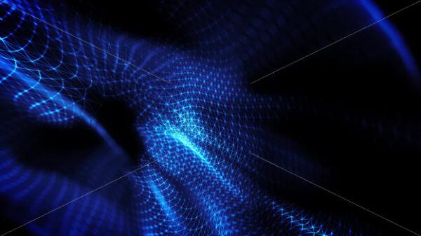 Abstract Digital Mesh Shape Fx Background Loop - Vectorsforall