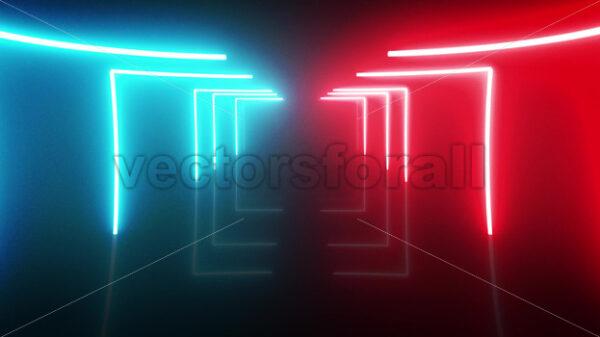 Abstract Digital Neon Retro Background Loop - Vectorsforall