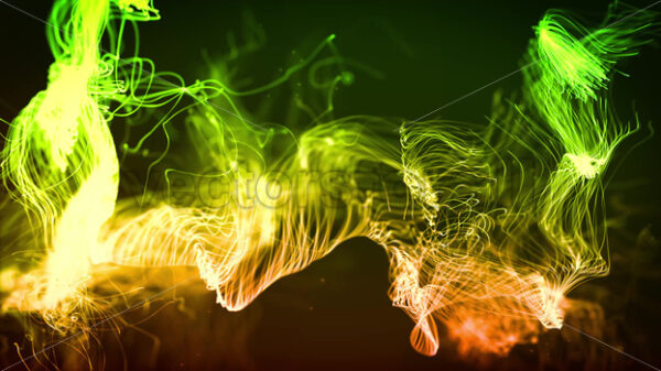 Abstract Fluid Particles Graphic Background Loop - Vectorsforall
