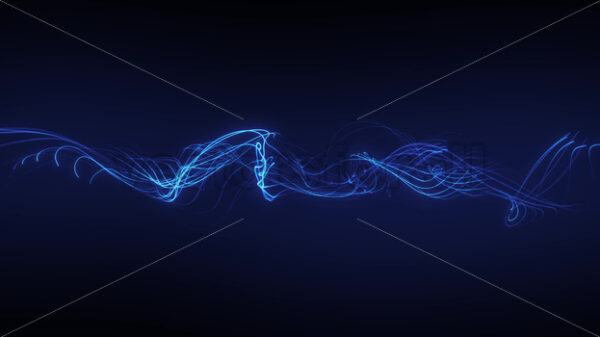 Abstract Fractal Mesh Strings Fx Loop - Vectorsforall