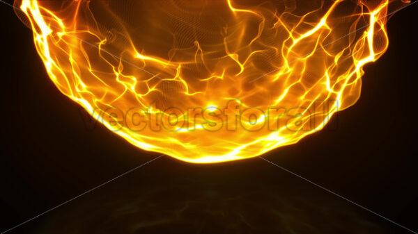 Burning Fire Fx With Particles Flames Animation - Vectorsforall