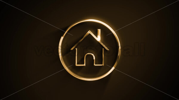 Computer Home Icon With Texture Fx Animation - Vectorsforall