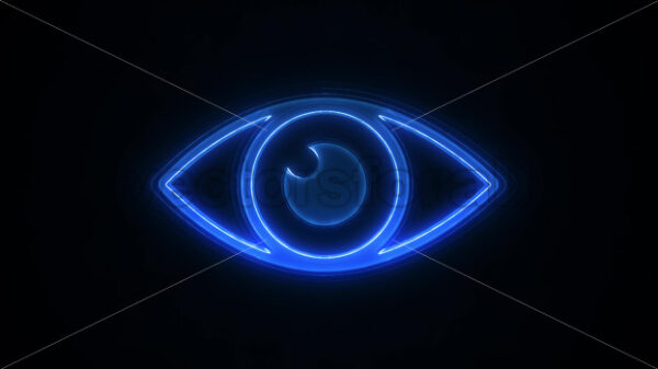 Cyber Big Brother's Eye With Glicht Fx Background - Vectorsforall