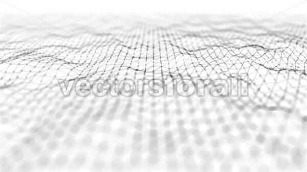 Abstract Digital Waving Lines Fx Background Loop - Vectorsforall