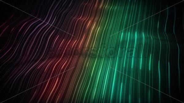 Abstract Digital Waving Neon Lines Fx Background Loop - Vectorsforall