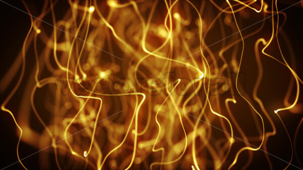 Abstract Gold Strings Waving Fx Background Loop - Vectorsforall