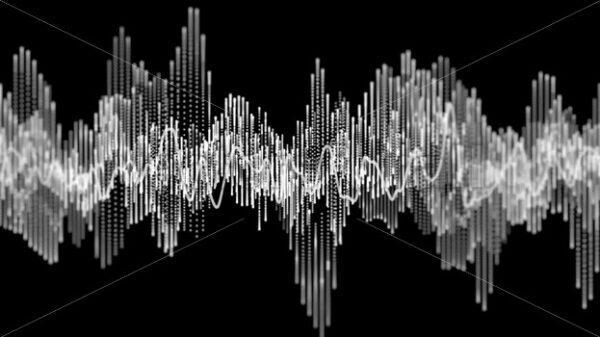 Digital Audio Spectrum Graphic Equalizer Background Loop - Vectorsforall