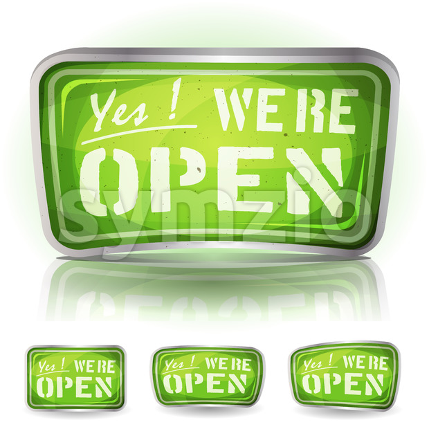 Come In We're Open Sign Stock Vector