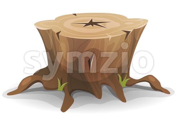 Comic Tree Stump Stock Vector
