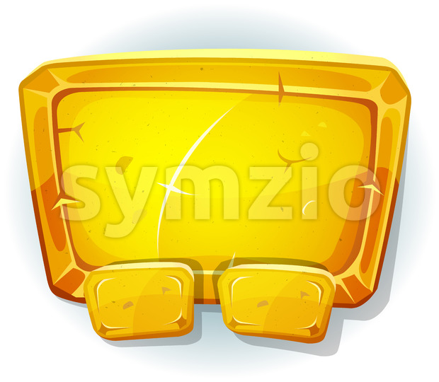 Cartoon Gold Sign For Ui Game Stock Vector