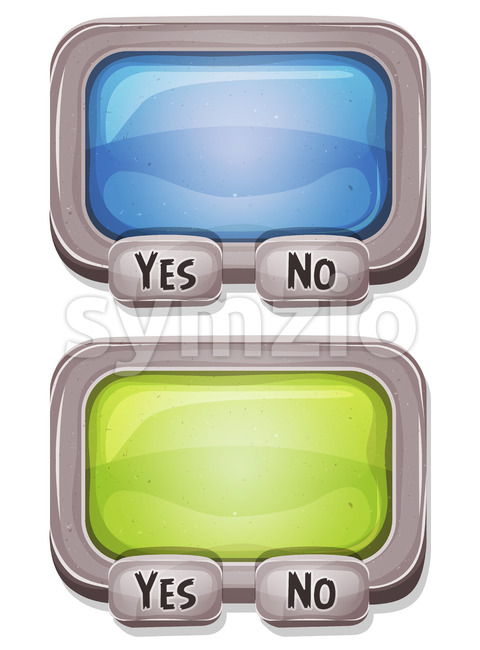 Answer Box For Ui Game Stock Vector