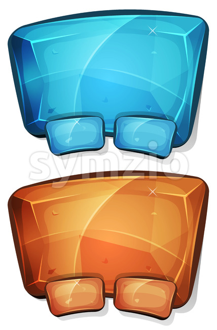 Cartoon Diamond Panel For Ui Game Stock Vector