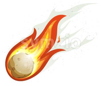 Cartoon Fireball And Comet Stock Vector