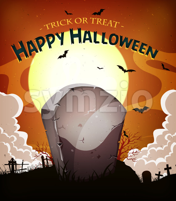Halloween Holidays Background Stock Vector
