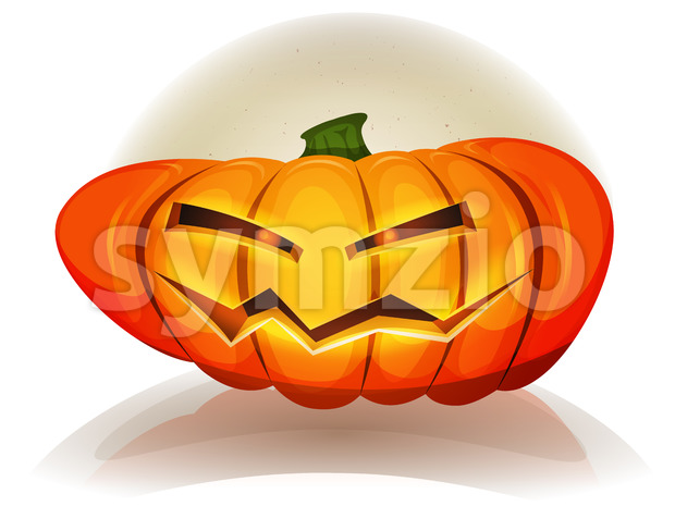 Illustration of cartoon funny jack o'Lantern halloween pumpkin characters for autumn october holidays