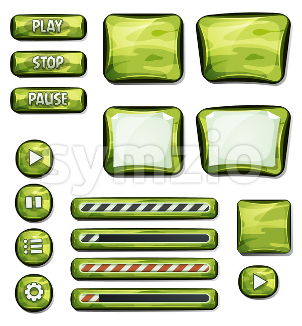Military Camo Elements For Ui Game Stock Vector