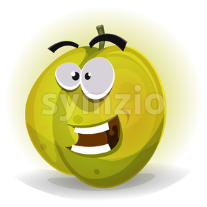 Comic Funny Plum Character Stock Vector