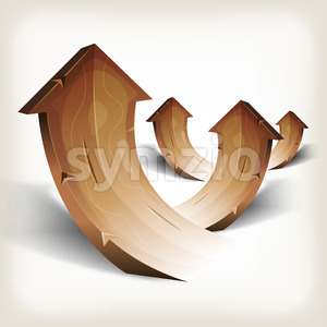 Abstract Wood Rising Arrows Stock Vector
