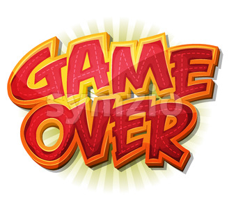 Game Over Icon For Ui Game Stock Vector