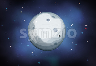 Moon Planet On Space Background Stock Photo