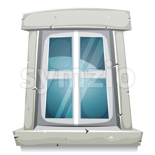 Cartoon Closed Window Stock Vector
