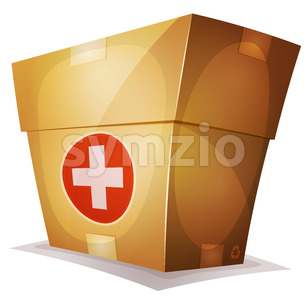 Funny Medicine Box For Ui Game Stock Vector