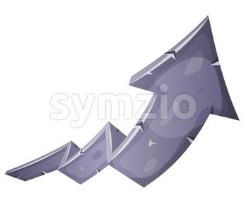 Cartoon Stone Rising Arrow Stock Vector