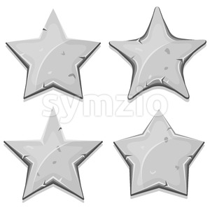 Stone Stars Icons For Ui Game Stock Vector