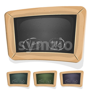 Funny Blackboard Sign For Ui Game Stock Vector