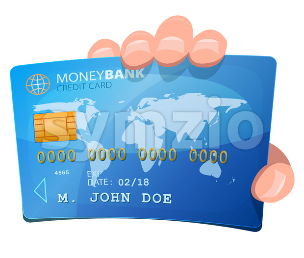 Hand Holding Credit Card Stock Vector