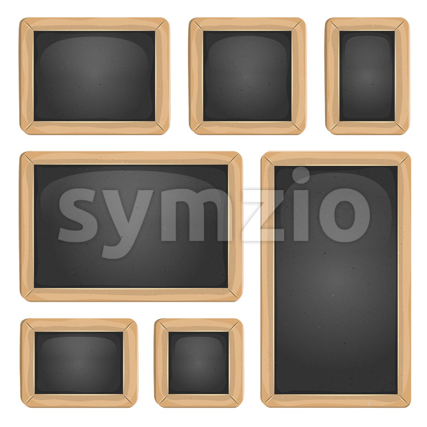 School Blackboard Set Stock Vector