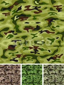 Seamless Military And Hunting Camo Stock Vector