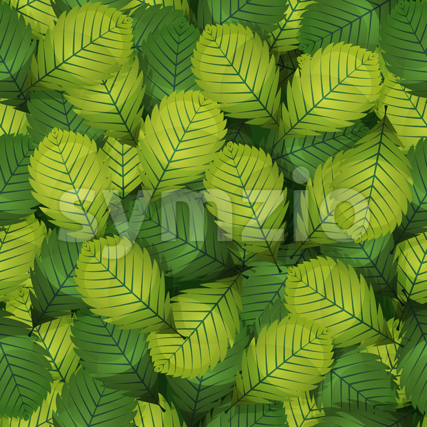 Seamless Spring Hazel Leaves Stock Vector