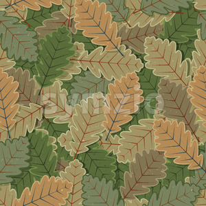 Seamless Oak Tree Leaves Background Stock Vector