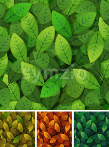 Seamless Spring And Seasons Leaves Stock Vector