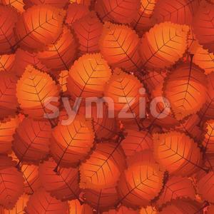 Seamless Autumn Tree Leaves Stock Vector