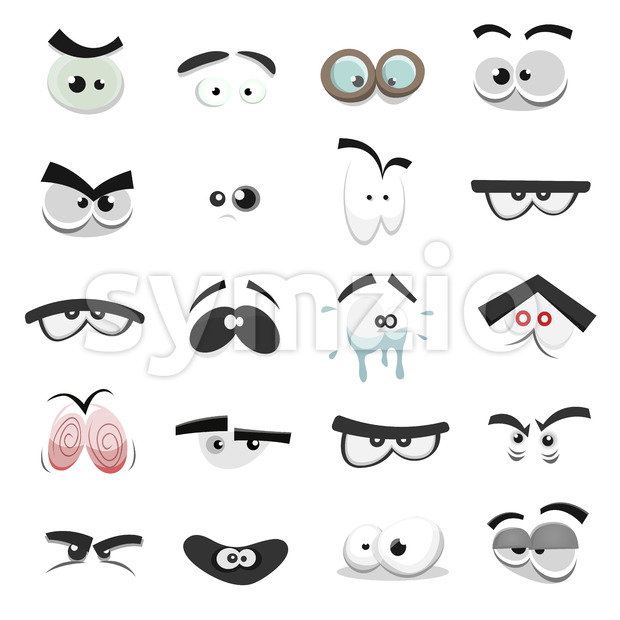 Comic Eyes Set Stock Vector