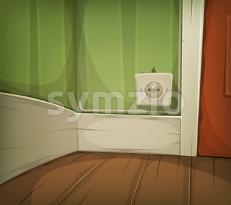 Cartoon Corner Of Room Close-Up Stock Vector