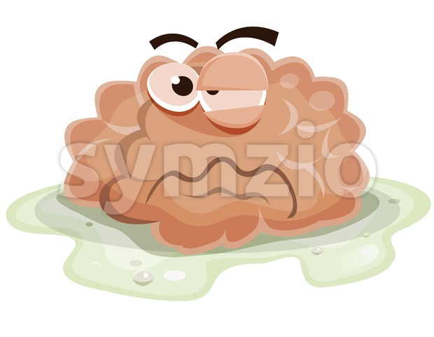 Damaged Brain Character Stock Vector