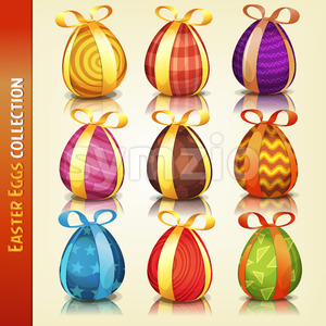 Easter Eggs Collection Stock Vector