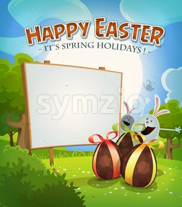 Spring Time And Easter Holidays Stock Vector
