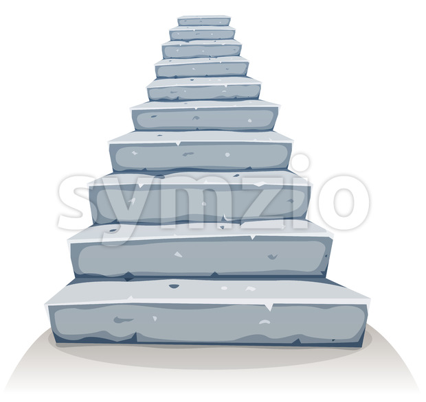 Cartoon Stone Stairs Stock Vector