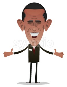 President Obama Character Stock Vector