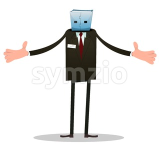 Usb Man Stock Vector