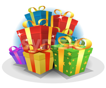 Happy Birthday Gifts Pack Stock Vector