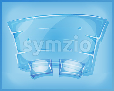 Transparent Glass Agreement Panel For Ui Game Stock Vector