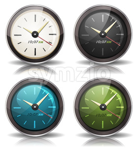 Watches Icons Set Stock Vector